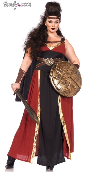 Plus Size Regal Warrior Costume, Plus Size Roman Costume, Plus Size Warrior Costume