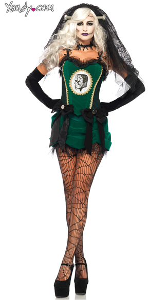 Bride Of Frankenstein Costume, Frankenstein\'s Monster Costume, Sexy Monster Costume