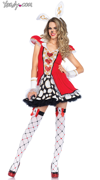 Tick Tock White Rabbit Costume, Sexy White Rabbit Costume, Alice in Wonderland Costume