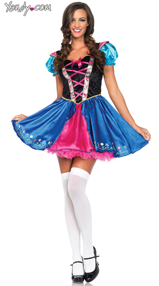 Sexy Alpine Princess Costume, Sexy Princess Costume, Sexy Fairytale Costume