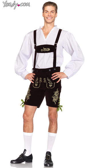 Men\'s Oktoberfest Lederhosen Costume, Men\'s Beer Costume, Men\'s German Costume