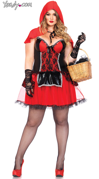 Plus Size Sexy Red Costume, Plus Size Little Red Riding Hood Costume, Plus Size Fairytale Costume