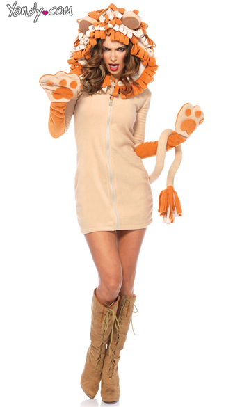 Cozy Lioness Costume, Sexy Lion Costume, Sexy Cat Costume
