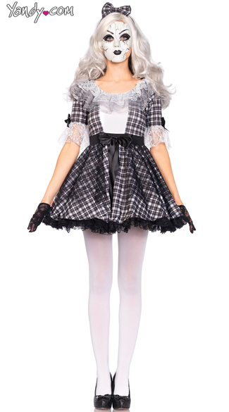 Pretty Porcelain Doll Costume, Sexy Doll Costume, Scary Doll Costume
