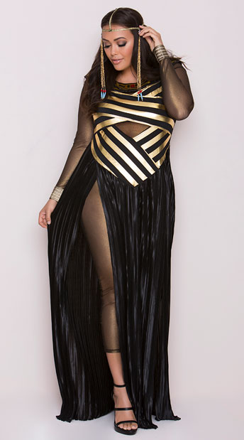 Plus Size Goddess Isis Costume, Plus Size Egyptian Costume, Plus Size Cleopatra Costume