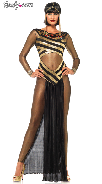 Golden Goddess Egyptian Costume, Egyptian Goddess Costume, Cleopatra Costume