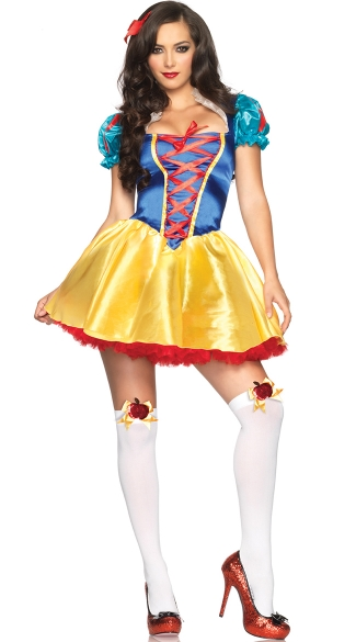 Classic Snow Princess Costume, Womens Snow White Costume