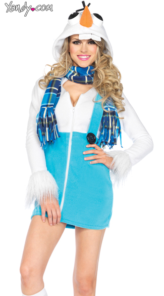 Cozy Snowman Costume, Sexy Frozen Costume, Frozen Costumes