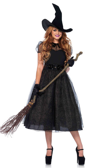 Darling Spellcaster Costume, Sexy Witch Costume, Black Witch Costume