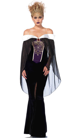 Bewitching Evil Queen Costume, Sexy Evil Queen Costume, Sexy Queen Costume
