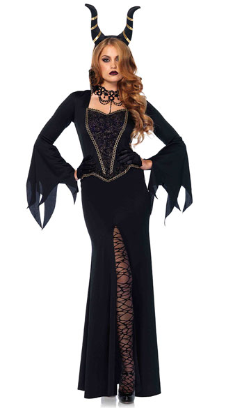 Evil Enchantress Costume, Black Witch Costume, Evil Witch Costume
