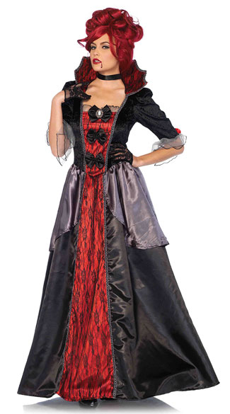 Blood Countess Costume, Sexy Vampire Costume, Victorian Vampire Costume