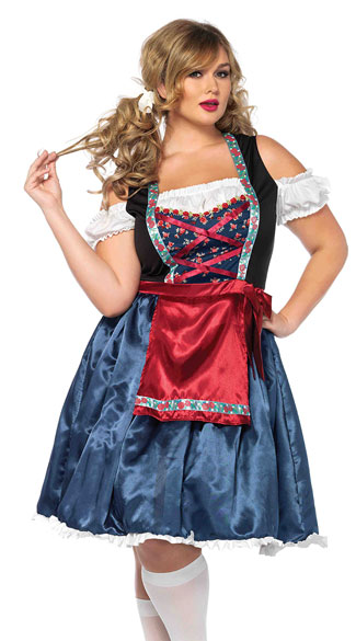 Plus Size Beer Fest Beauty Costume, Plus Size Beer Girl Costume, Plus Size Beer Wench Costume
