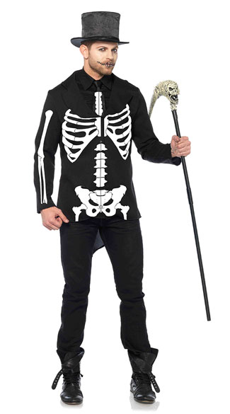 Men\'s Bone Daddy Costume, Men\'s Skeleton Costume, Men\'s Bone Costume