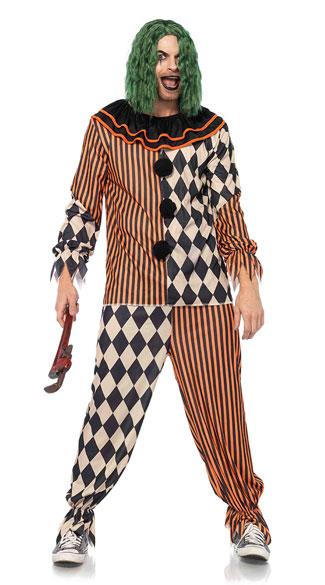 Men S Creepy Circus Clown Costume Men S Clown Costume