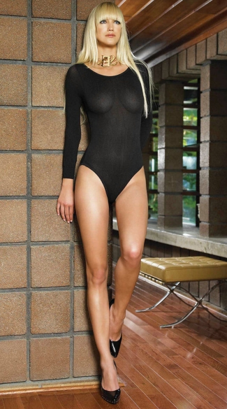 Opaque Long Sleeves Bodysuit