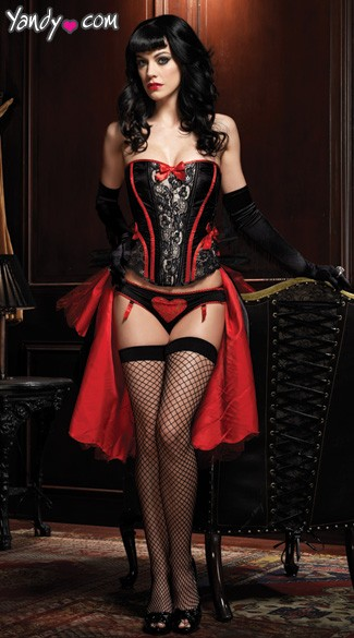 Raven Corset with Support Boning
