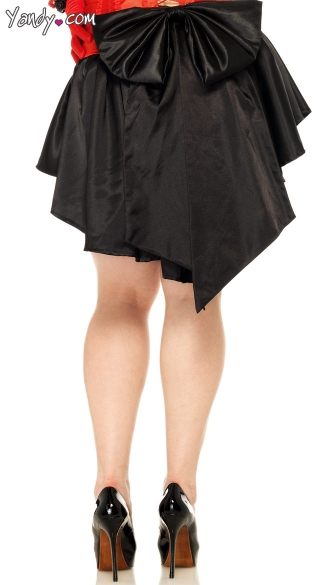 Plus Size Satin Burlesque Skirt, Plus Size Skirt with Train, Plus Size Satin Skirt