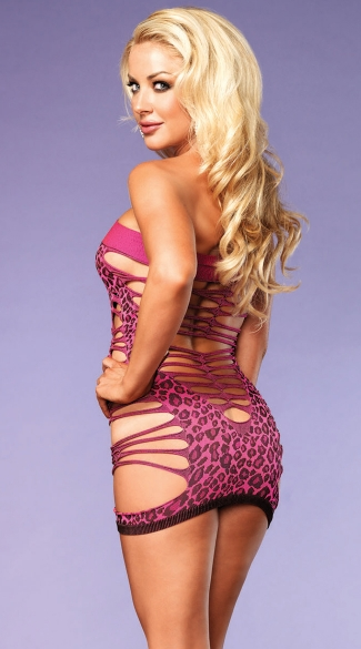 Strappy Neon Leopard Chemise