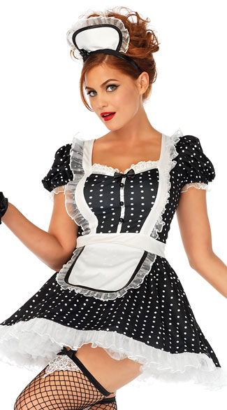Frisky Frenchie Costume, Sexy French Maid Costume - Yandy.com