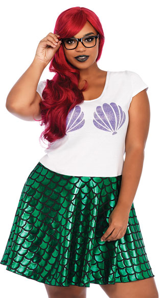 Plus Size Hipster Costume, Plus Size Modern Mermaid Costume