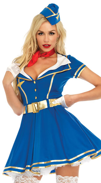 Sky Hottie Costume, Sexy Flight Attendant Costume - Yandy.com