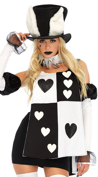 Wonderland White Rabbit Costume, I\'m Late! Rabbit Costume - Yandy.com