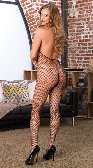 Industrial Net Crotchless Bodystocking