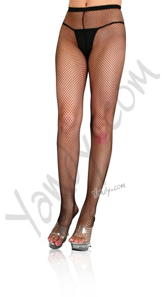 Plus Size Fishnet w/ Back Seam Pantyhose Stockings