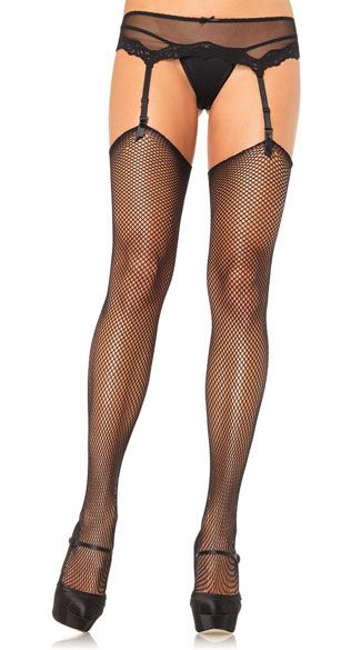 Fishnet Stockings, Thigh High Fishnets, Sexy High Fishnet Stockings