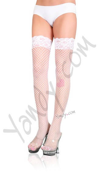 Stay Up Lycra Industrial Fishnet Thigh High