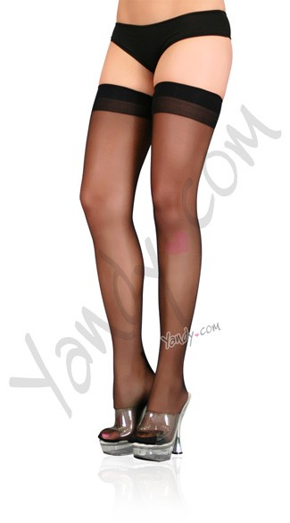 Lycra Cuban Foot Stocking, Cuban Heal Lycra Thigh Highs