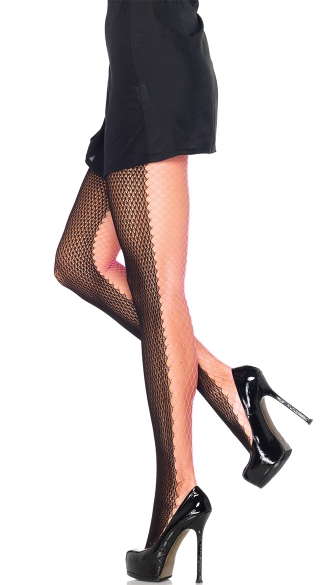 Dutone Net Pantyhose, Two Tone Net Pantyhose, Fishnet Pantyhose, Fence Net Pantyhose