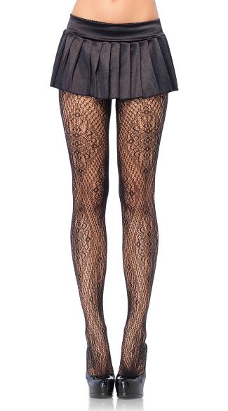 Florentine Lace Pantyhose, Sexy Lace Pantyhose, Sexy Sheer Lace Pantyhose