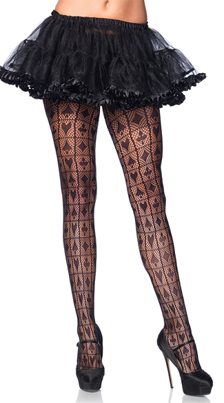Card Shark Fishnet Pantyhose, Playing Cards Pantyhose, Fishnet Pantyhose