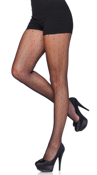 Starlet Dotted Fishnet Pantyhose