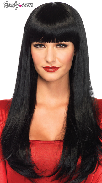 Bangin\' Long Straight Wig, Long Wig With Bangs, Long Straight Wig With Bangs