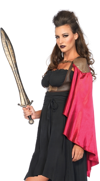 Warrior Harness Cape, Medieval Warrior Costume, Warrior Halloween Costume