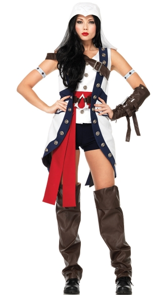 Connor Babe Assassin\'s Creed Costume, Sexy Connor Costume, Hot Assassin\'s Creed Video Game Costume