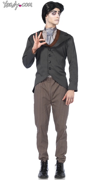 Men\'s Victor Costume, Men\'s Groom Costume, Men\'s Zombie Groom Costume
