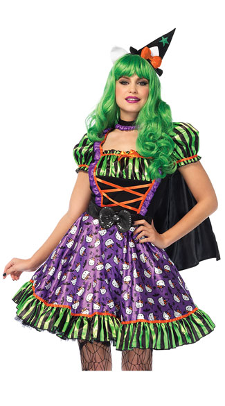 hello kitty witch costume  colorful witch costume  sexy witch costume