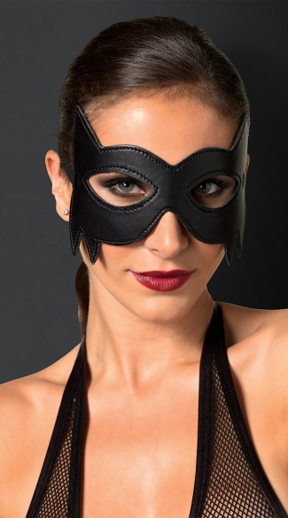 Fantasy Cat Eye Mask, Sexy Cat Mask, Black Kitty Mask