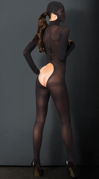 Sexy Temptress Hooded Bodysuit