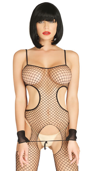 Industrial Net Suspender Bodystocking Set, Netted Cut Out Suspender Bodystocking Set, Sexy Netted Cut Out Suspender Bodystocking Set, netted bodystocking, crotchless bodystocking, bodystocking, sexy bodystocking