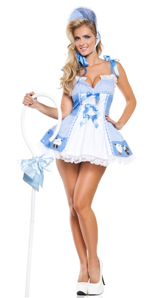 Plus Size Blue Little Bo Peep Cutie Costume Plus Size