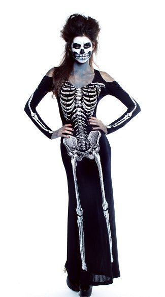 Bone Appetit Costume, Skeleton Costume, Skeleton Halloween Costume