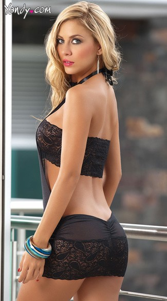Lace Lingerie Dress with Matching G-String