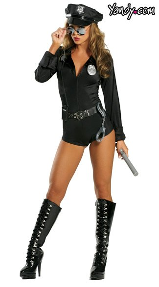 Cop Costume, Lady\'s Cop Halloween Costume, Woman Cop Costume ...