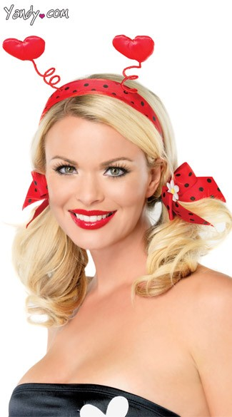 Ladybug Headband And Bows