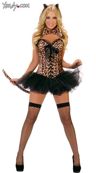 Leopard Deluxe Costume, Sexy Leopard Costume, Sexy Adult Leopard Costume, Leopard Halloween Costume